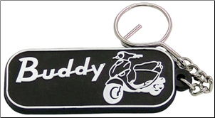Keychain, Rubber - Buddy Black (SKU: KC4)