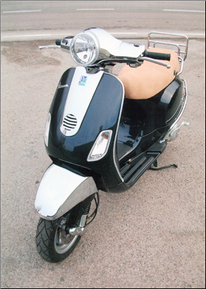 Chrome Headset Cover, Vespa LX 50-150 (SKU: LXHSC)