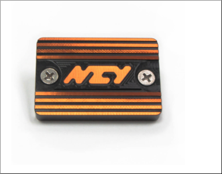 NCY Master Cylinder Cap, Yamaha - Black/Orange (SKU: 1000-1104)