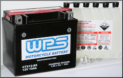Battery, 12-BS (Parts Unlimited Brand or WPS depending on availability) (SKU: 49-2270)