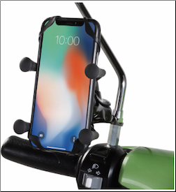 Prima Cell Phone Holder (Mirror and Handlebar Mount) (SKU: 1600-0219)