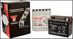 Battery, 12-BS (Yuasa Brand) (SKU: YTX12-BS or 49-1962)