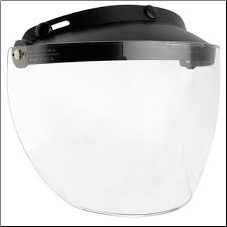 Helmet Accessory, 3 Snap Clear Flip Face Shield