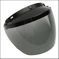 Helmet Accessory, 3 Snap Smoke Flip Face Shield