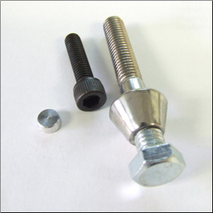 NCY Burglarproof Screw, 10x45 - Vino 50 (SKU: 1600-0009)