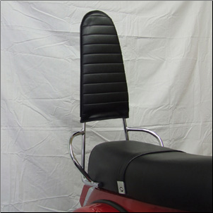 High Rear Backrest, Chrome (SKU: RBR3-C)