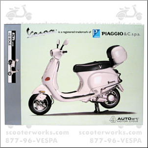 Large Model, Vespa ET4 (SKU: VMD18     WHITE)