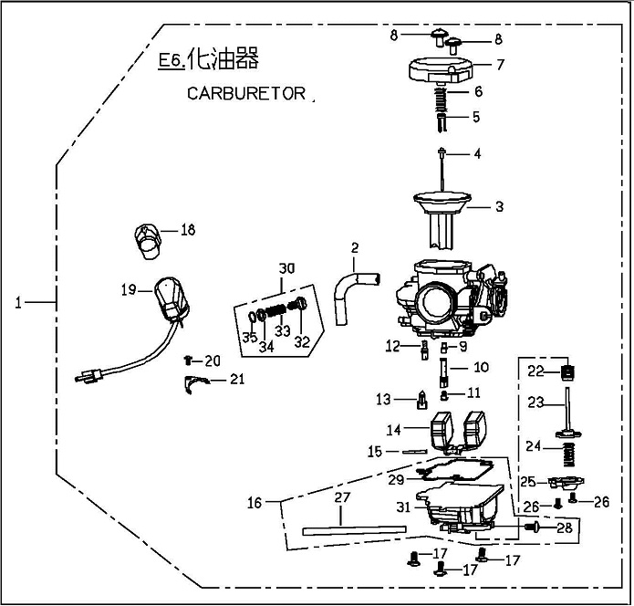 Genuine Blur Carburetor