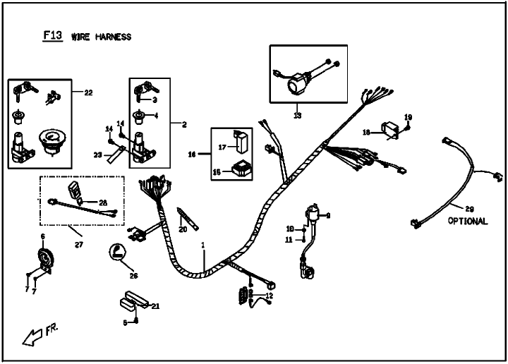rattler 110 wire harness