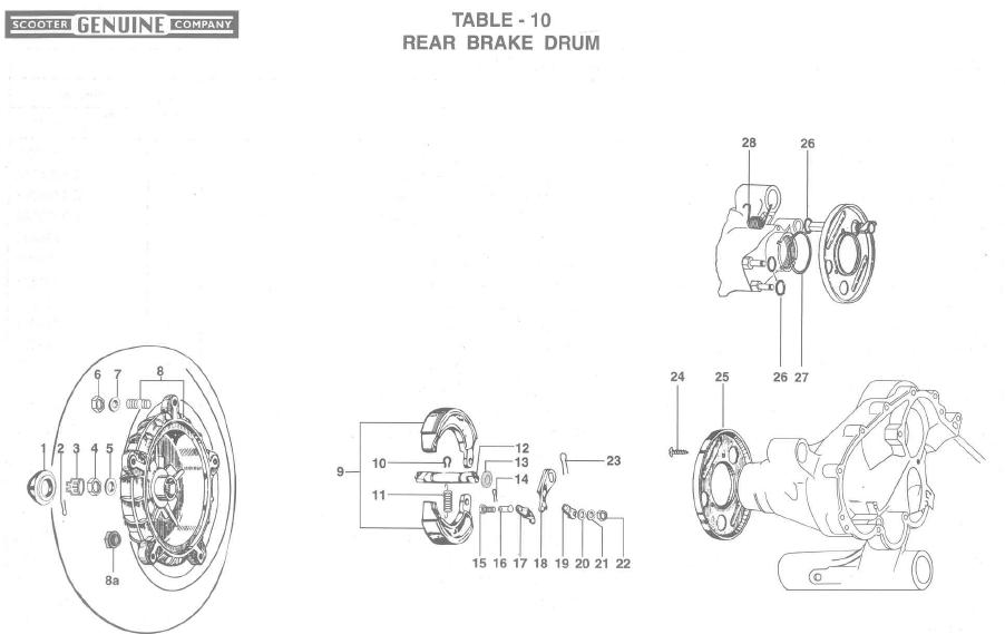 Genuine Stella Rear Brake Drum